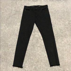 AG Jeans Farrah high rise skinny 28 black